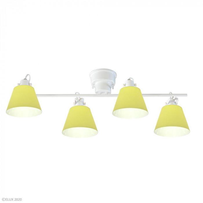 ●【送料無料】ELUX(エルックス) FLAGS(フラッグス) 4灯シーリングライト イエロー LC10930-YE「他の商品と同梱不可/北海道、沖縄、離島別途送料」