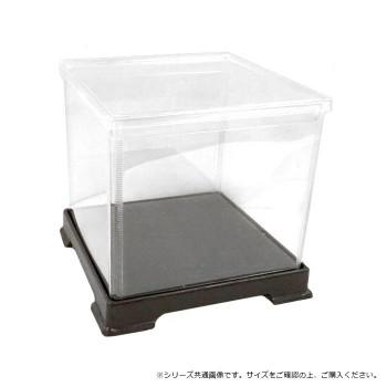 ●【送料無料】透明プラスチック角型ケース 27×27×64cm 4個セット「他の商品と同梱不可/北海道、沖縄、離島別途送料」