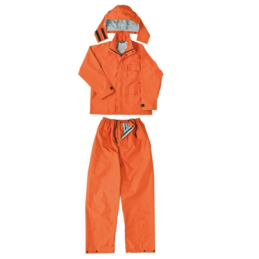 ●【送料無料】弘進ゴム レインウェア ランドワークスG2 オレンジ L H0312AF「他の商品と同梱不可/北海道、沖縄、離島別途送料」