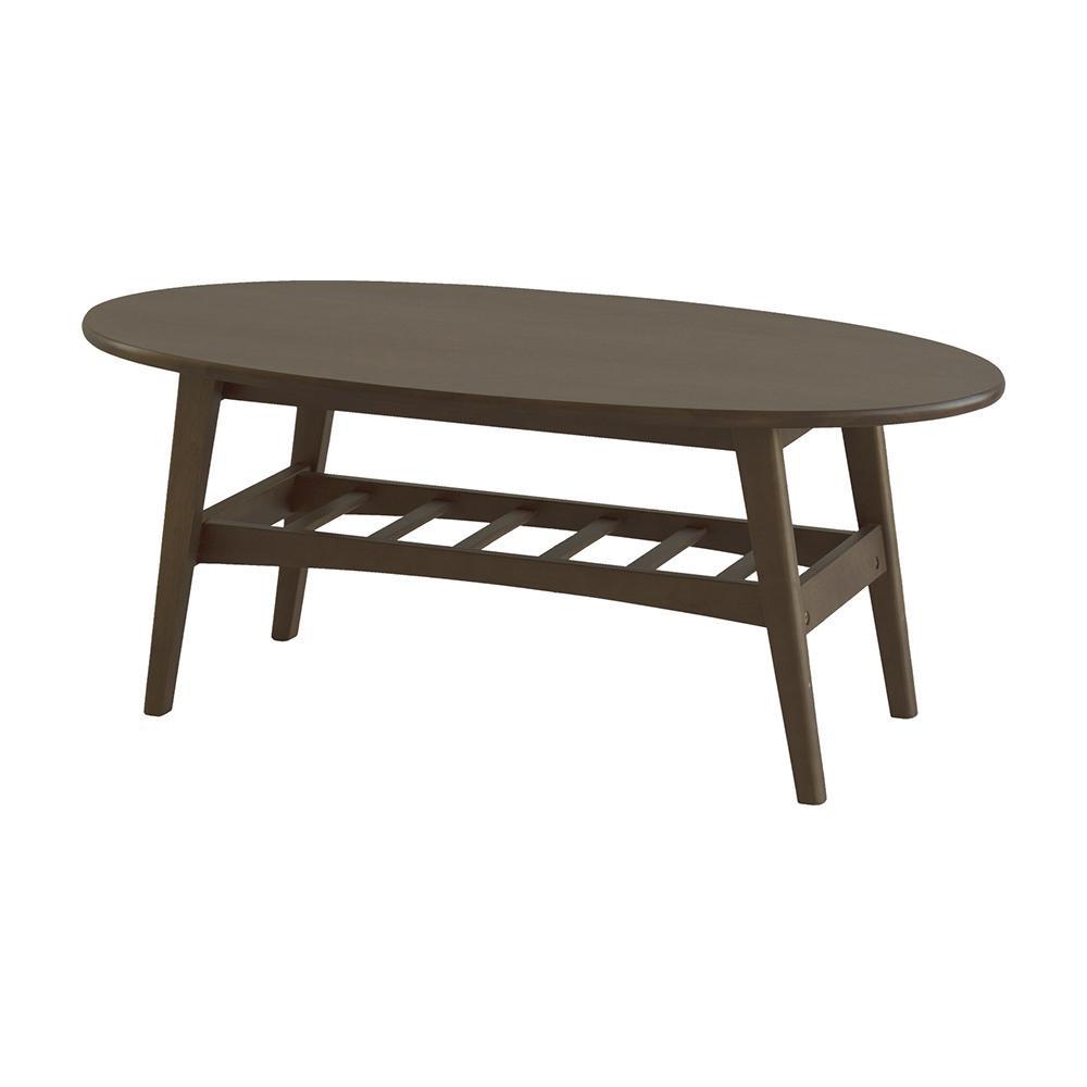 ●【送料無料】【代引不可】emo エモ Living Table リビングテーブル ブラウン EMT-3141BR「他の商品と同梱不可/北海道、沖縄、離島別途送料」