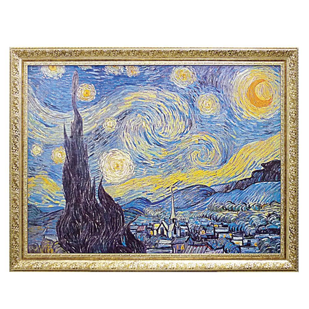 ●【送料無料】ユーパワー ミュージアム シリーズ ゴッホ「Starry Night 1889」 MW-18069「他の商品と同梱不可/北海道、沖縄、離島別途送料」