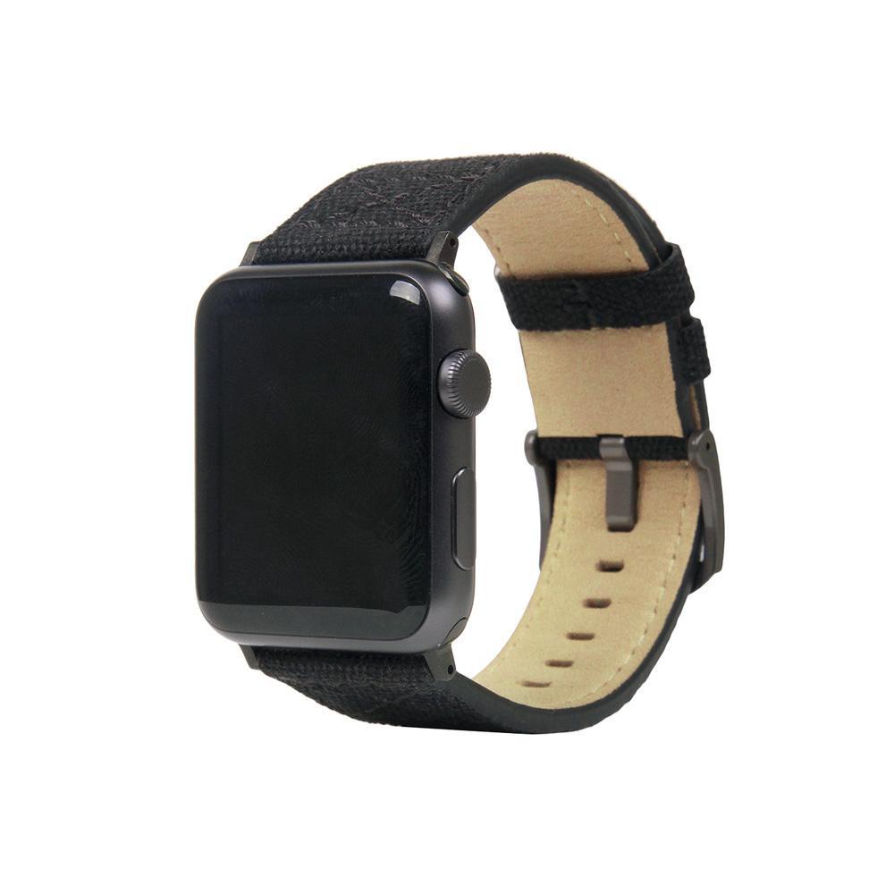 ●【送料無料】SLG Design(エスエルジーデザイン) Apple Watch バンド 42mm/44mm用 Wax Canvas ブラック SD16045AW「他の商品と同梱不可/北海道、沖縄、離島別途送料」