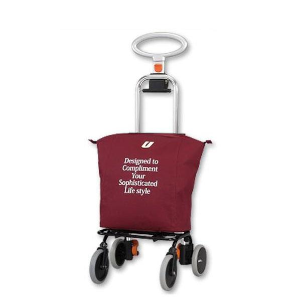 ●【送料無料】ショッピングカート アップライン UL-0218(無地・ワインレッド)「他の商品と同梱不可/北海道、沖縄、離島別途送料」