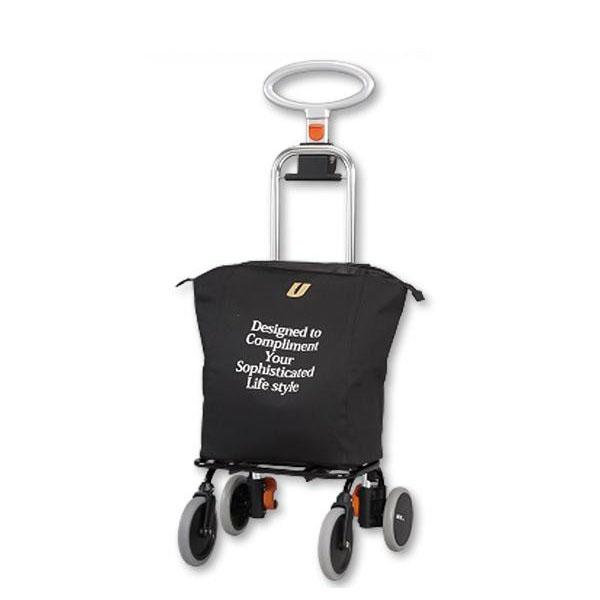 ●【送料無料】ショッピングカート アップライン UL-0218(無地・ブラック)「他の商品と同梱不可/北海道、沖縄、離島別途送料」