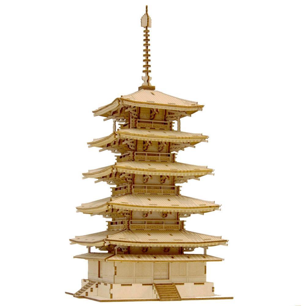 ●【送料無料】Wooden Art ki-gu-mi 五重塔「他の商品と同梱不可/北海道、沖縄、離島別途送料」