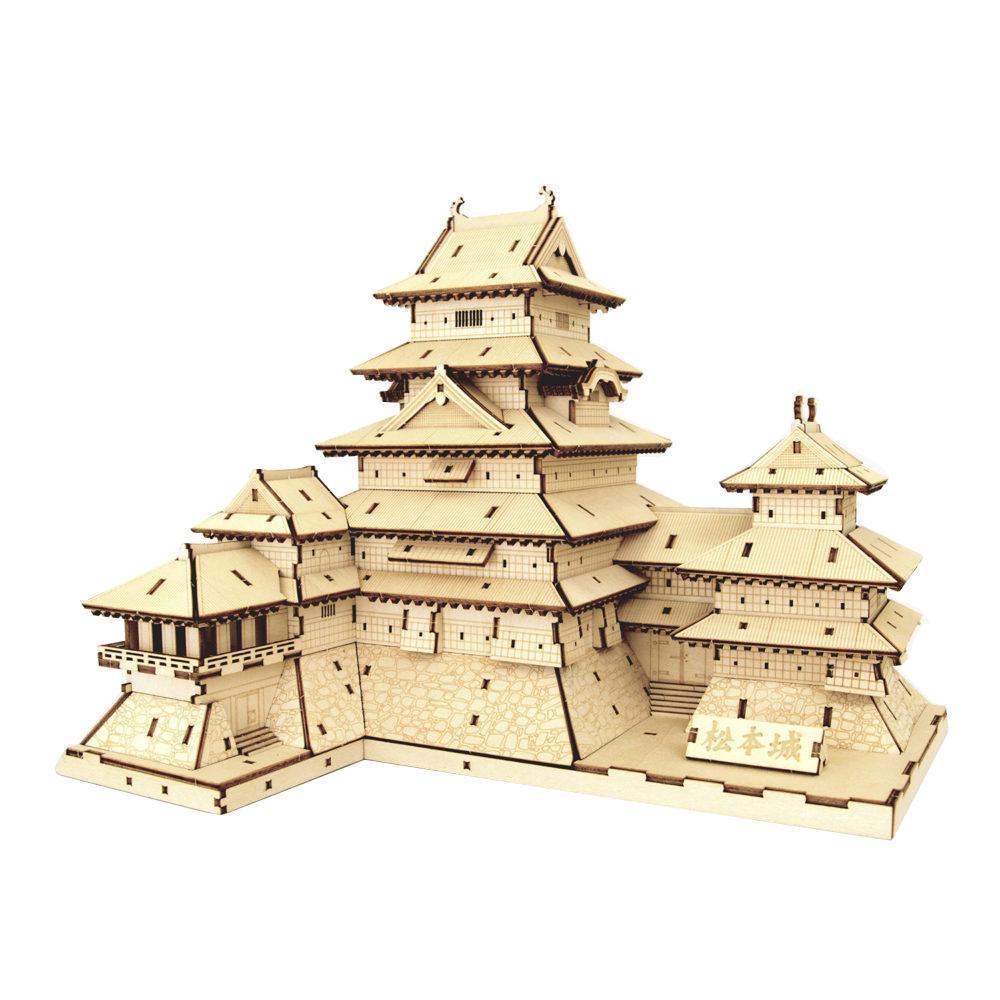 ●【送料無料】Wooden Art ki-gu-mi 松本城「他の商品と同梱不可/北海道、沖縄、離島別途送料」