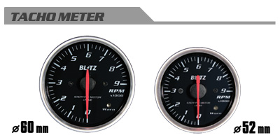 BLITZ ブリッツ レーシングメーターSD 52φ WHITE タコメーター 品番:19576 【NF店】