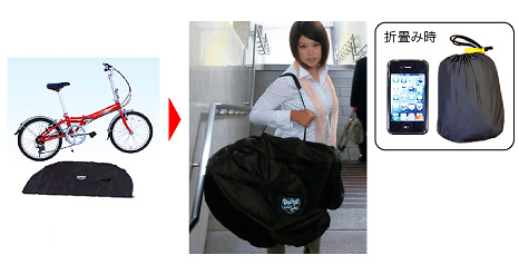 パワーアップジャパン FALCON 輪行バッグ 折り畳み車用 PI-2 入数200 ケース1 計200 【NF店】