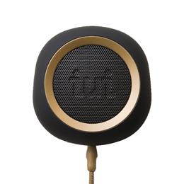☆iui audio ウーファー搭載ポータブルスピーカー BeYo(ビーヨ) ブラック×ゴールド TR-4265/BKGD