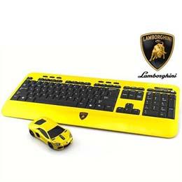 ☆LANDMICE Lamborghini LP700 2.4G無線マウス+キーボード (イエロー) LB-LP700KM-YL