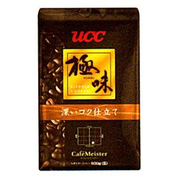 ☆UCC上島珈琲 UCC極味 深いコク仕立て(豆)AP500g 12袋入り UCC310480000