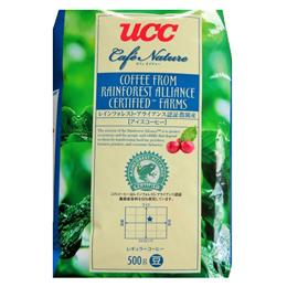 ☆UCC上島珈琲 カフェネイチャー レインフォレストアライアンス認証アイスコーヒー豆AP500g 12袋入り UCC302679000