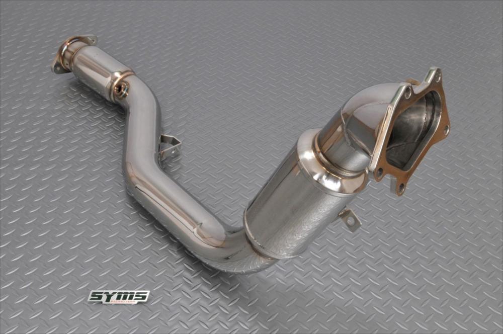 SYMS シムスレーシング Mキャタ付フロントパイプ 品番:Y08004S010 車種:インプレッサ GDB