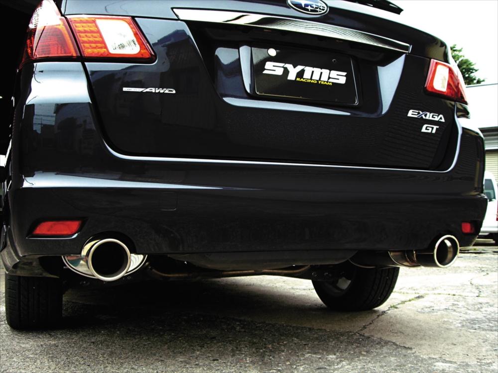 SYMS シムスレーシング リアマフラー 品番:Y0800YA001 車種:エクシーガ CBA-/DBA-YA5