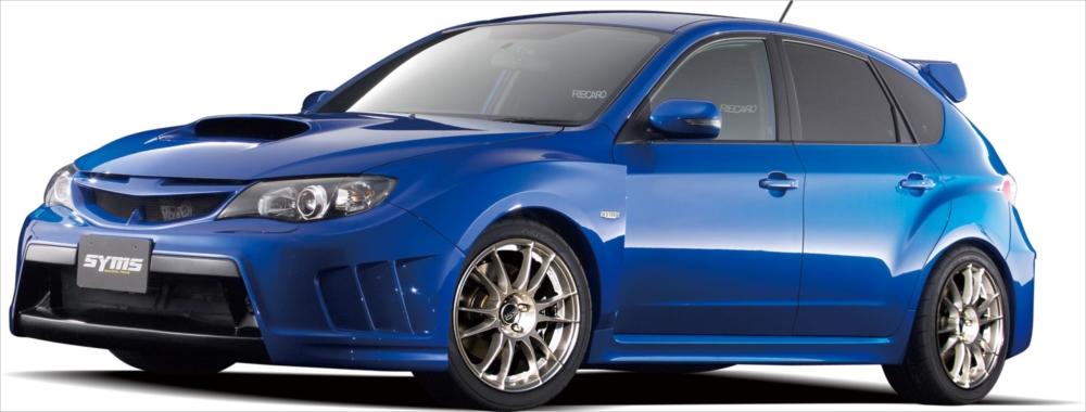 <代引不可>SYMS シムスレーシング フルエアロキット ヘッドライトウォッシャー付タイプ 品番:Y3000GR006 車種:インプレッサ GRB /GRF