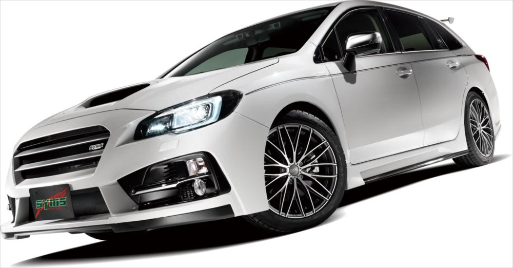 SYMS シムスレーシング フロントバンパー ヘッドライトウォッシャー付車用 品番:Y3000VM001 車種:レヴォーグ VMG/VM4