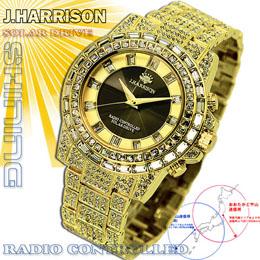 <欠品中 納期未定>☆J.HARRISON シャイニングソーラー電波時計 JH-025GB