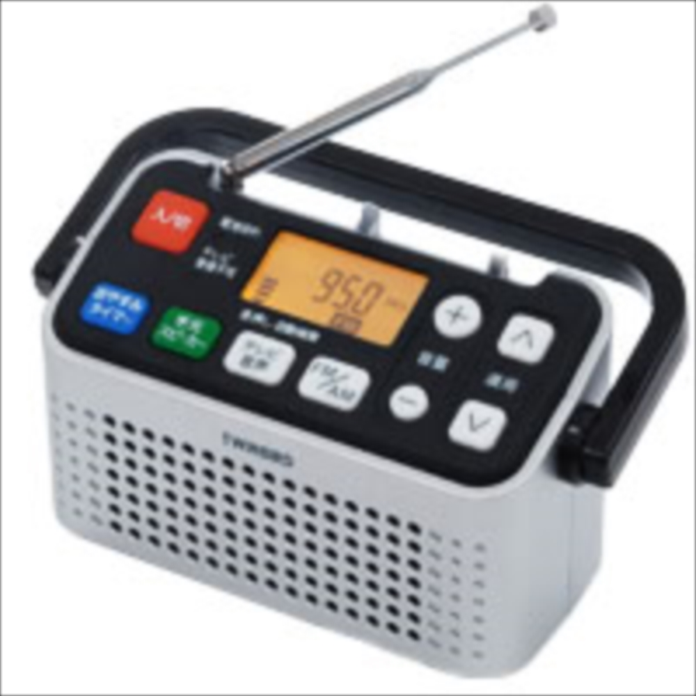 TWINBIRD ツインバード 手元スピーカー機能付3バンドラジオ AV-J127S シルバー