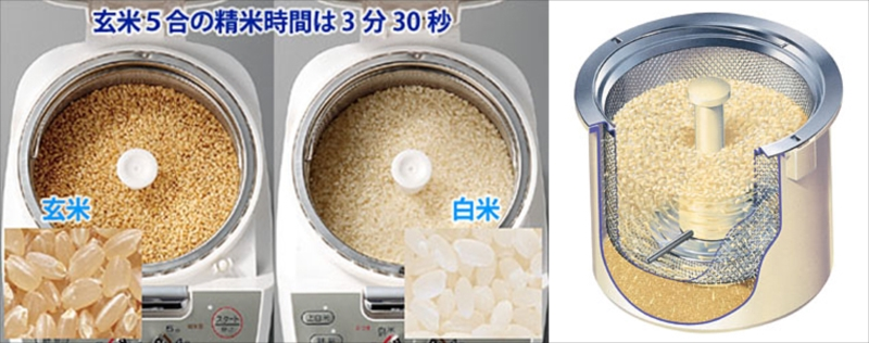 TWINBIRD ツインバード コンパクト精米器精米御膳 MR-E751W ホワイト 【NF店】