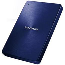 <欠品中 未定>☆IOデータ 3.0/2.0対応 ポータブルハードディスク「カクうす」 2.0TB ブルー HDPX-UTA2.0BUSB