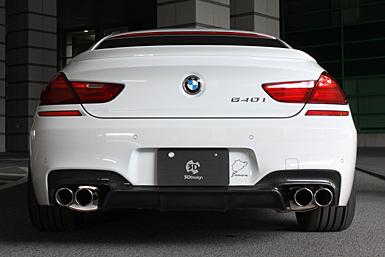 3D Design BMW マフラー φ90x4テール 品番:4101-20613 6シリーズ F06 640i/N55B30A(全車)