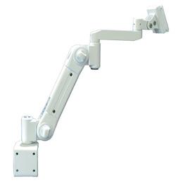 ☆ライブクリエータ スイング式スタンダードアーム クランプ固定 低荷重 アイボリー ARM2-10AC