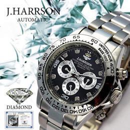 ☆J.HARRISON 8石天然ダイヤモンド付自動巻&手巻き時計 JH-014DS