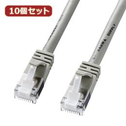 ☆【10個セット】サンワサプライ ツメ折れ防止カテゴリ5eSTPLANケーブル KB-STPTS-03X10