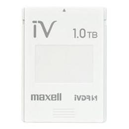 ☆maxell カセットHDD iV(アイヴィ)カラーシリーズ 1TB ホワイト M-VDRS1T.E.WH