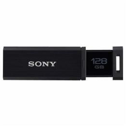 ☆ソニー USM128GQX-B USB3.0対応 ノックスライド方式USBメモリー 128GB (ブラック)