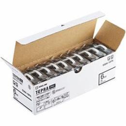 ☆キングジム SS6K-10PN テプラPROテープ エコパック 白 黒文字 6mm幅 8m 10個入