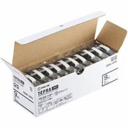☆キングジム SS9K-10PN テプラPROテープ エコパック 白 黒文字 9mm幅 8m 10個入