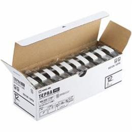 ☆キングジム SS12K-10PN テプラPROテープ エコパック 白 黒文字 12mm幅 8m 10個入