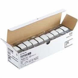 ☆キングジム SS24K-10PN テプラPROテープ エコパック 白 黒文字 24mm幅 8m 10個入