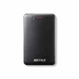☆BUFFALO バッファロー SSD-PM120U3A-B 耐振動・耐衝撃 省電力設計 USB3.1(Gen1)対応 小型ポータブルSSD 120GB ブラック SSD-PM120U3A-B(USB)
