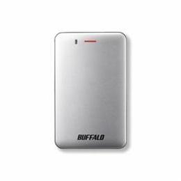 ☆BUFFALO バッファロー SSD-PM240U3A-S 耐振動・耐衝撃 省電力設計 USB3.1(Gen1)対応 小型ポータブルSSD 240GB シルバー SSD-PM240U3A-S(USB)