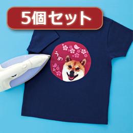 ☆【5個セット】インクジェットカラー布用アイロンプリント紙 JP-TPRCLN-10X5