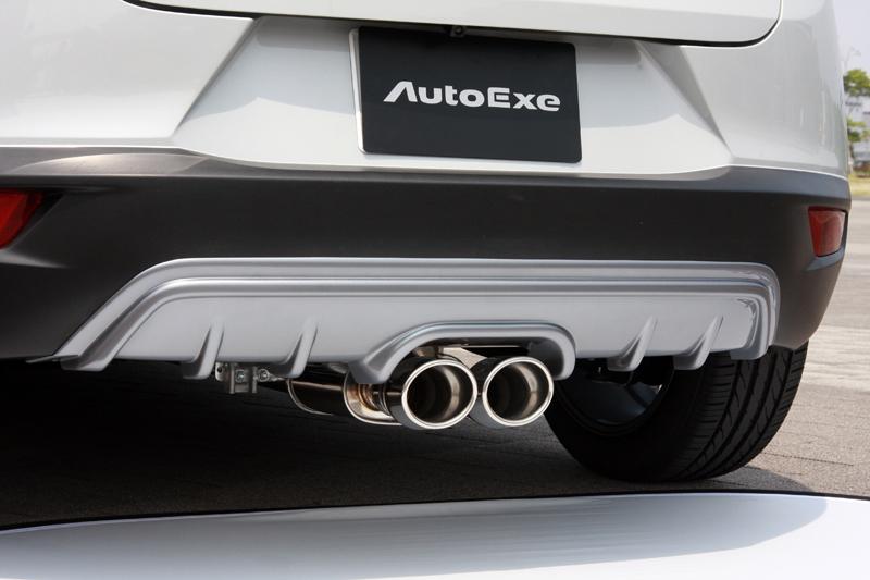 AutoExe オートエグゼ MDK8Y50 プレミアムテールマフラー センターデュアル CX-3 DK5FW AT車 【NF店】