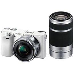 <欠品 未定>☆SONY デジタル一眼カメラ α6000 ダブルズームレンズキット (ホワイト) ILCE-6000Y-W