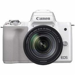 ☆CANON ミラーレス一眼カメラ 「EOS Kiss M」 EF-M18-150 IS STM レンズキット (ホワイト) EOSKISSMWH-18150ISST