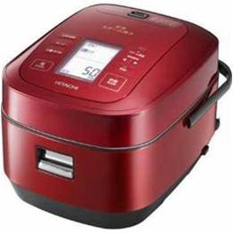 ☆日立 圧力スチームIH炊飯器「ふっくら御膳」(5.5合炊き) メタリックレッド RZ-AW3000M-R