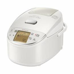 ☆日立 圧力スチームIH炊飯器 5.5合炊き ふっくら御膳 パールホワイト RZ-BV100M-W