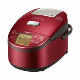 <欠品中 未定>☆日立 圧力スチームIH炊飯器 1升炊き ふっくら御膳 メタリックレッド RZ-BV180M-R
