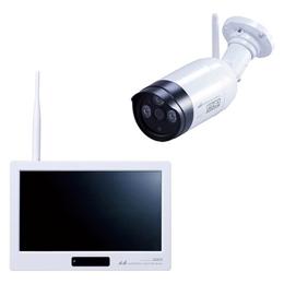 ☆日本アンテナ ワイヤレスセキュリティカメラ 10.1型モニターセット 「ドコでもeye」 フルHD対応 SC05ST