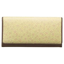 ☆草木染め印伝 つた桜柄長財布 M81101029 K91103126