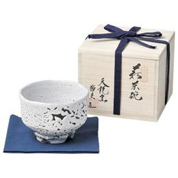 ☆原節夫作 白萩楽形茶碗 K91305110