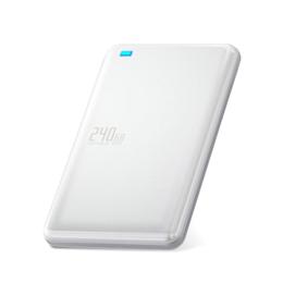 ☆エレコム 外付けSSD/ポータブル/USB3.1(Gen1)対応/240GB/ホワイト ESD-ED0240GWH