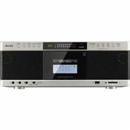 <欠品中 納期未定>☆TOSHIBA 【ハイレゾ音源対応】 Aurexシリーズ SD/USB/CDラジオカセットレコーダー サテンゴールド TY-AK1N