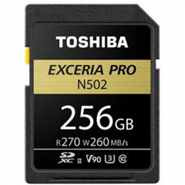 ☆TOSHIBA SDHC/SDXCメモリカード 「EXCERIA PRO」 256GB SDXU-D256G