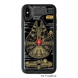 ☆STAR WARS スター/ウォーズ グッズコレクション FLASH M-FALCON 基板アート iPhone Xケース 黒 F10B